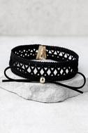 Diem Black Layered Choker Necklace 1