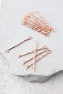 ban.do Everyday Bobbis Rose Gold Bobby Pins 1