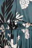 Somedays Lovin' After the Storm Slate Blue Floral Print Romper 6