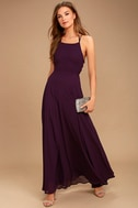 Strappy to be Here Purple Maxi Dress 2