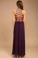 Strappy to be Here Purple Maxi Dress 4