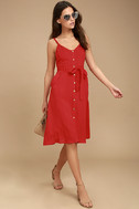 Free and Pier Red Belted Dress 2