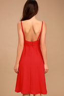 Free and Pier Red Belted Dress 4