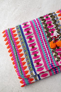 Innovative Fuchsia Embroidered Clutch 2