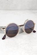 Saturn Gold Round Sunglasses 1