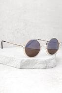 Saturn Gold Round Sunglasses 2