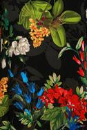 Oasis We Go Black Tropical Print Shift Dress 6