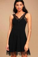 Black Swan Annalee Black Lace Skater Dress 1