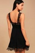 Black Swan Annalee Black Lace Skater Dress 3