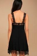 Black Swan Annalee Black Lace Skater Dress 4