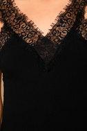 Black Swan Annalee Black Lace Skater Dress 6
