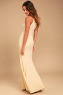 Girl in the Mirror Light Beige Beaded Maxi Dress 3