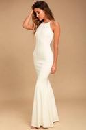 Girl in the Mirror White Beaded Maxi Dress 2