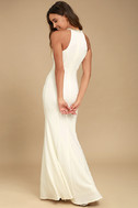 Girl in the Mirror White Beaded Maxi Dress 3