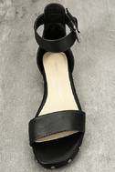 Chinese Laundry Grady Black Leather Ankle Strap Sandals 5