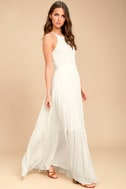 For Life White Embroidered Maxi Dress 2