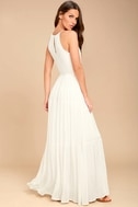 For Life White Embroidered Maxi Dress 3
