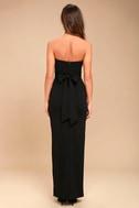 Own the Night Black Strapless Maxi Dress 4