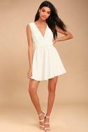 Absolutely Spectacular White Skater Dress 2