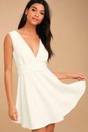 Absolutely Spectacular White Skater Dress 3