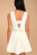 Absolutely Spectacular White Skater Dress 4