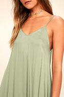 Lasting Memories Washed Olive Green Midi Dress 5