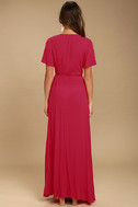 Much Obliged Red Wrap Maxi Dress 4