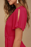 Much Obliged Red Wrap Maxi Dress 5