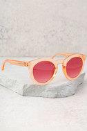 Crap Eyewear The T.V. Eye Peach Sunglasses 2