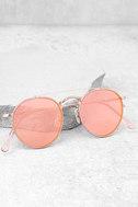 Crap Eyewear The Tuff Safari Rose Gold Mirrored Sunglasses 1