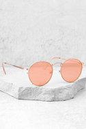 Crap Eyewear The Tuff Safari Rose Gold Mirrored Sunglasses 2