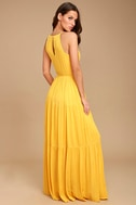 For Life Golden Yellow Embroidered Maxi Dress 3