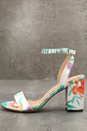 Chilali Nude Print Ankle Strap Heels 1