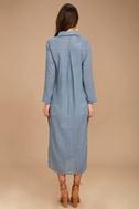 Sweet Cottage Denim Blue Long Sleeve Cover-Up 5