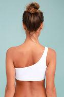 KAOHS Swim Becky White One Shoulder Bikini Top 4