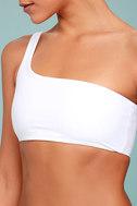 KAOHS Swim Becky White One Shoulder Bikini Top 5