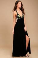 Artfully Arranged Black Embroidered Maxi Dress 2