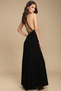 Artfully Arranged Black Embroidered Maxi Dress 3