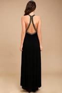 Artfully Arranged Black Embroidered Maxi Dress 4