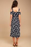 Glamorous Kayden Navy Blue Print Midi Wrap Dress 4