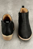 Marzia Black Distressed Ankle Booties 3
