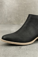 Marzia Black Distressed Ankle Booties 6