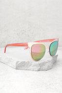 Buns Rose Gold Mirrored Cat-Eye Sunglasses 2