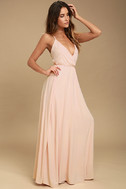 Everything's All Bright Blush Pink Backless Maxi Dress 2