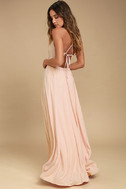 Everything's All Bright Blush Pink Backless Maxi Dress 3