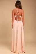 Everything's All Bright Blush Pink Backless Maxi Dress 4