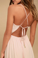 Everything's All Bright Blush Pink Backless Maxi Dress 5
