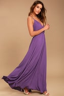 Everything's All Bright Purple Backless Maxi Dress 2