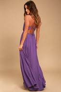 Everything's All Bright Purple Backless Maxi Dress 3