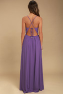 Everything's All Bright Purple Backless Maxi Dress 4